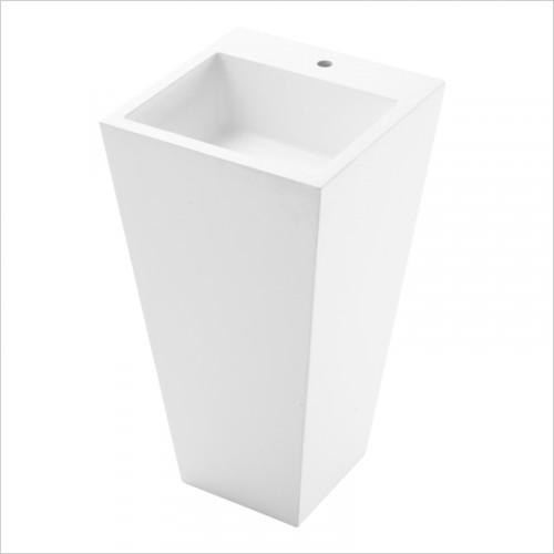 Waters Baths of Ashbourne - Basins - Elements Haze Stone Freestanding Basin 500 x 500 x 910mm