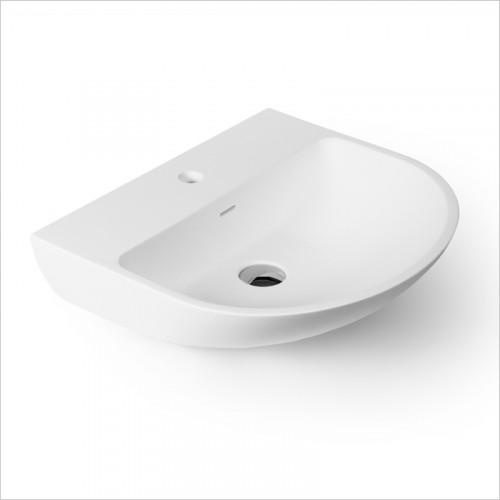 Waters Baths of Ashbourne - Basins - Botanics Oasis M/Stone Wall Hung Basin Oval