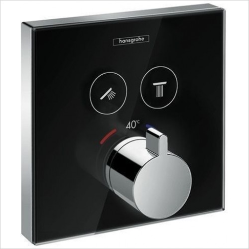 Hansgrohe - Showers - ShowerSelect Glass Thermostatic Mixer For Conc Installation