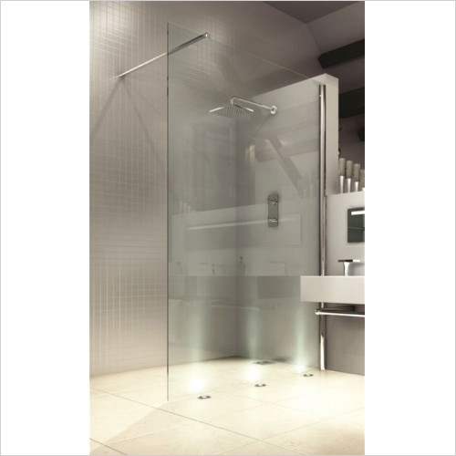 Merlyn - Showers - 8 Series Showerwall 1200mm Incl MStone Tray