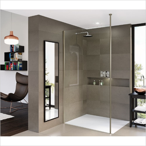 Matki - Showers - Matki One Wet Room Panel 850mm With Ceiling Brace