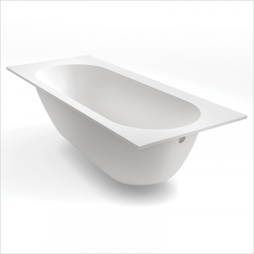Waters Baths of Ashbourne - Baths - Botanics Oasis Single Built In Bath Tub 1700 x 580 x 750mm