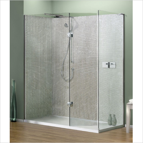 Matki - Showers - Boutique Corner, Side, Raised Tray & Mixer 1700 x 900mm RH