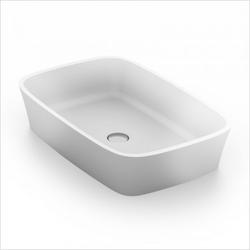 Waters Baths of Ashbourne - Basins - Elements Haze Stone Basin 555 x 355 x 120mm