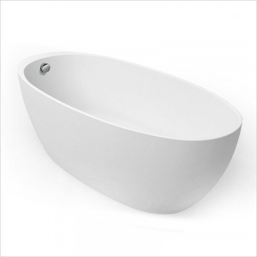 Waters Baths of Ashbourne - Baths - I-Line Fjord Offset Freestanding Bath 1690 x 590 x 760mm