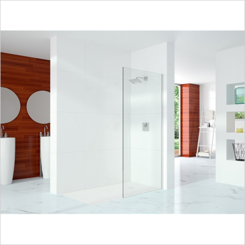 Merlyn - Showers - 10 Series Showerwall Incl Wall Profile & Str. Stab. Bar 1000