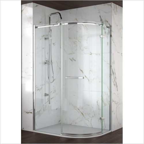 Merlyn - Showers - 8 Series Frameless 1 Door Offset Quadrant 1200 x 900mm