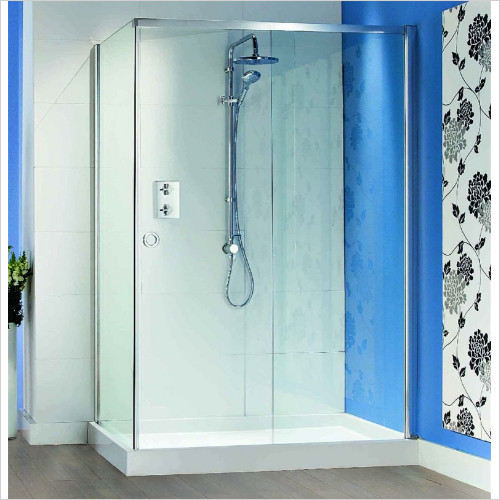 Matki - Showers - Radiance Sliding Door, Side & Tray 1400 x 900mm RH
