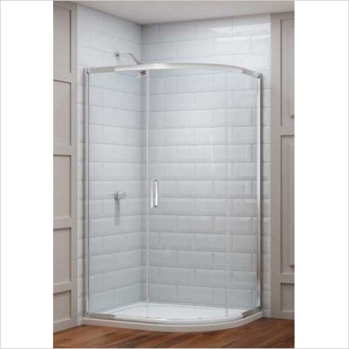 Merlyn - Showers - 8 Series 1 Door Offset Quad 1400 x 800mm Incl Tray RH