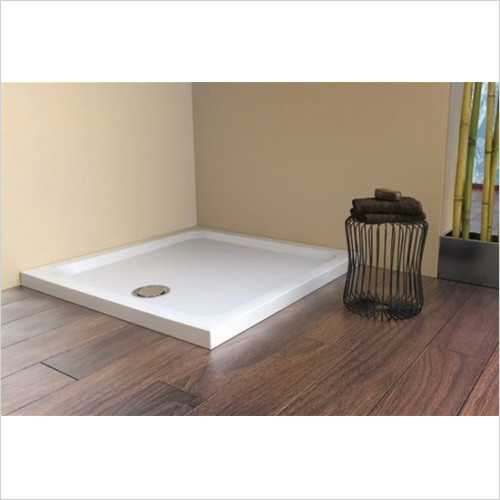 Matki - Showers - Fineline 60 Raised Recess Shower Tray 4 Upstands 900mm