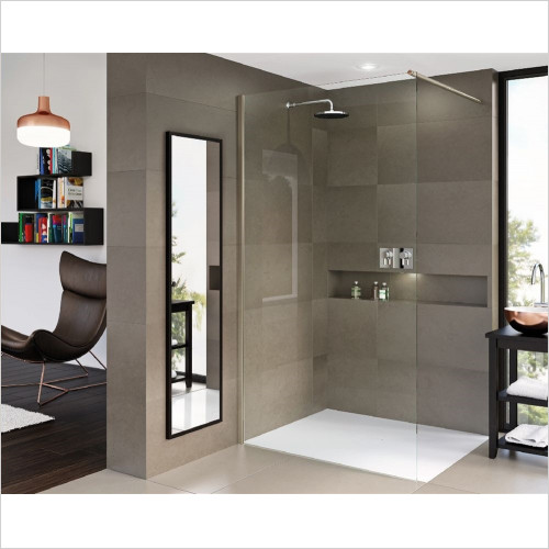 Matki - Showers - Matki One Wet Room Panel 700mm With Wall Brace