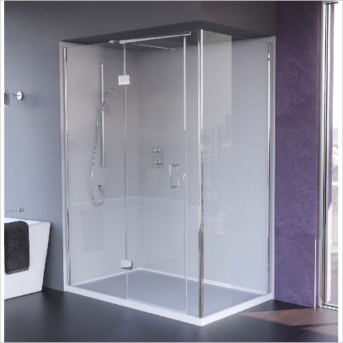 Matki - Showers - Illusion Corner, Side & Raised Tray 1000 x 800mm LH GG