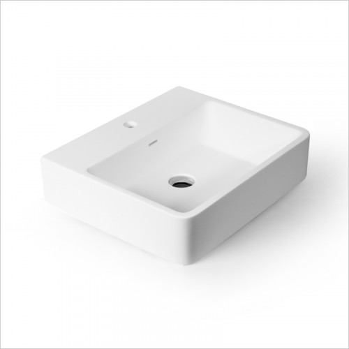 Waters Baths of Ashbourne - Basins - Botanics Hydra M/Stone Wall Hung Basin Rectangular