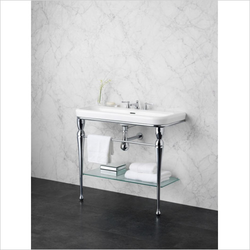 Victoria & Albert - Basins - Washstand With Two Legs And Frosted Glass Shelf