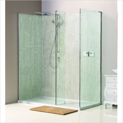 Matki - Showers - Boutique Corner, Side & Raised Tray 1200 x 900mm LH