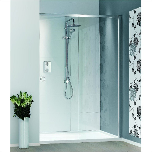 Matki - Showers - Radiance Recess Sliding Door & Raised Tray 1400 x 900mm RH