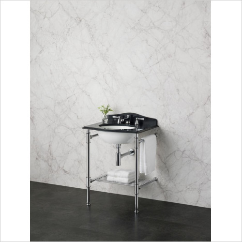 Victoria & Albert - Basins - Washstand With Two Legs And Metal Rail Shelf