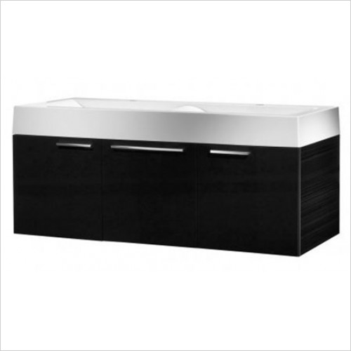 Roper Rhodes - Bathroom Furniture - Envy 1200mm His & Hers Wall Mounted Unit - Anthracite