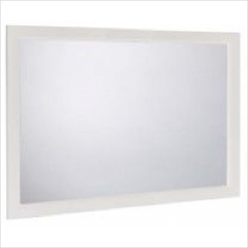 Roper Rhodes - Bathroom Furniture - Hampton 1200mm Plain Mirror - White