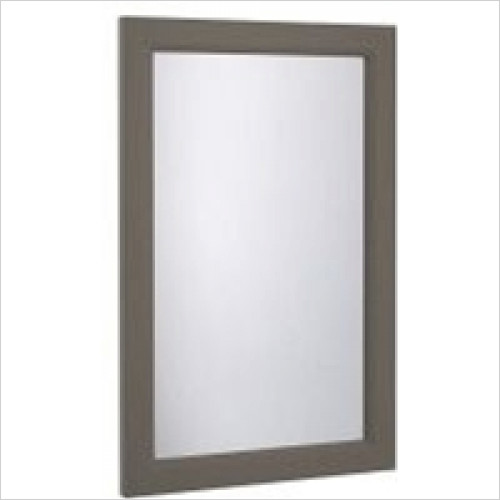 Roper Rhodes - Bathroom Furniture - Hampton Cloak Plain Mirror - Mocha