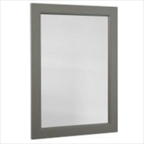 Roper Rhodes - Bathroom Furniture - Hampton 570 x 800mm Plain Mirror - Pewter
