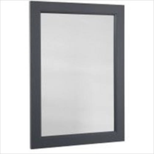 Roper Rhodes - Bathroom Furniture - Hampton 570 x 800mm Plain Mirror - Slate Grey