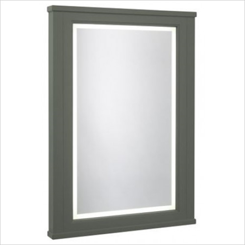 Roper Rhodes - Bathroom Furniture - Hampton 600mm Illuminated Mirror - Pewter