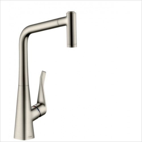 Hansgrohe - Kitchens - M7116-H320 Single Lever Kitchen Mixer 320, Pull-Out Spray