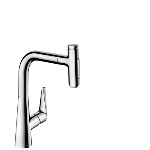 Hansgrohe - Kitchens - M5117-H220 - H220 Single Lever Kitchen Mixer With P-O Spray