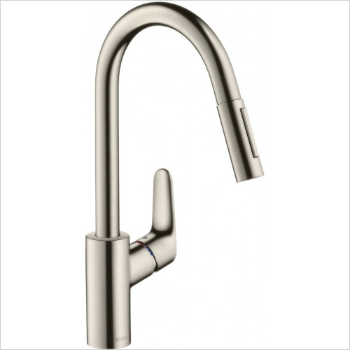 Hansgrohe - Kitchens - M4116-H240 Single Lever Kitchen Mixer 240, Pull-Out Spray