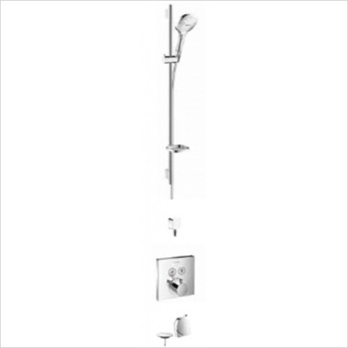 Hansgrohe - Showers - Square Select Valve With Raindance Select Rail Kit & Exafill