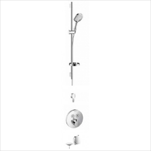 Hansgrohe - Showers - Round Select Valve With Raindance Select Rail Kit & Exafill