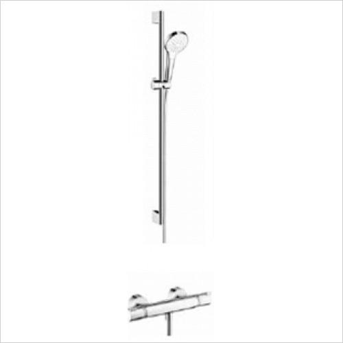 Hansgrohe - Showers - Exposed Valve with Croma Select Rail Kit