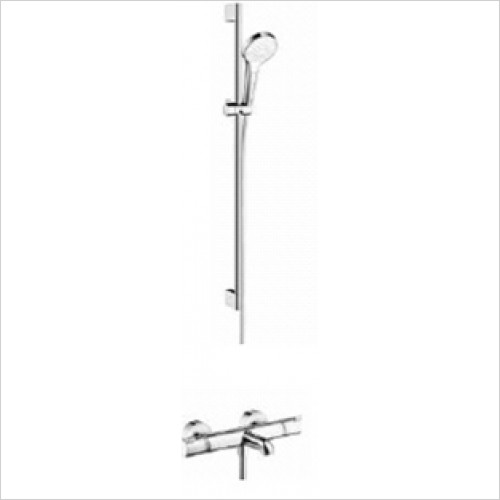 Hansgrohe - Showers - Exposed Bath / Shower Valve with Croma Select Rail Kit