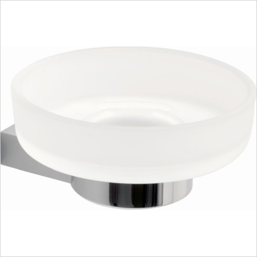 Vado - Accessories - Infinity Frosted Glass Soap Dish & Holder Wall Mounted