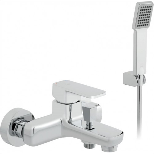 Vado - Baths - Phase Exposed Bath Shower Mixer Single Lever Wall Mounted