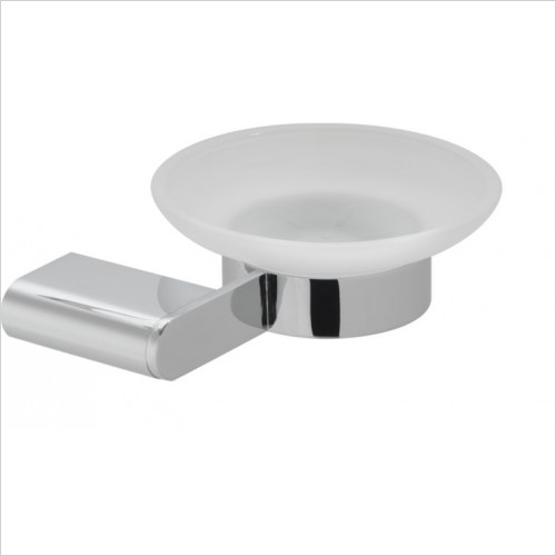 Vado - Accessories - Photon Frosted Glass Soap Dish & Holder Wall Mounted