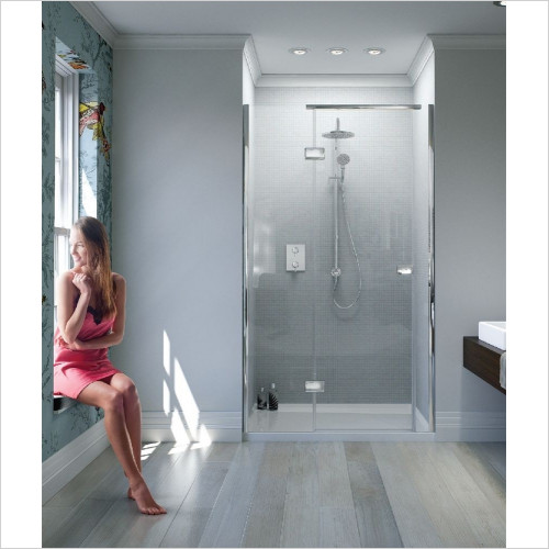 Matki - Showers - Illusion Recess Door 900mm RH GG