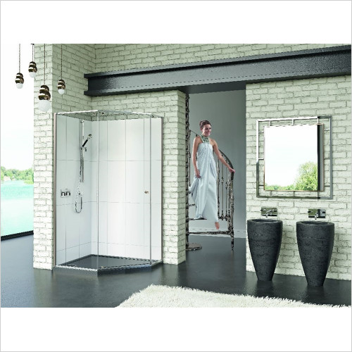 Matki - Showers - Matki One Quintesse 1200 x 900mm LH With Tray, Ring Handle